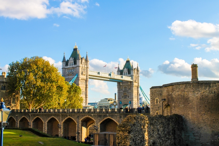 View of the Tower Bridge from the Tower of London