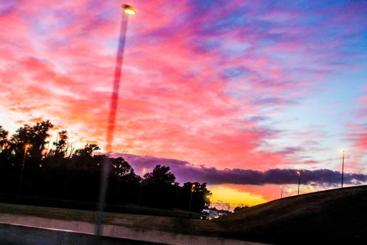 The fiery skies outside Antwerp