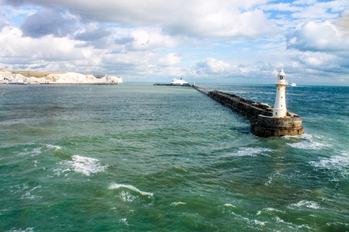 Cliffs of Dover, from across the English Channel